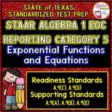 STAAR ALGEBRA 1 EOC Reporting Category 5 TEST PREP