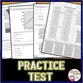 STAAR ALGEBRA I EOC Review TEST PREP (Version 2)