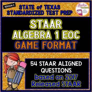 STAAR ALGEBRA 1 EOC Review Game