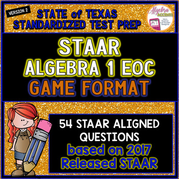 ALGEBRA 1 STAAR EOC Review Game by Algebra Accents | TpT