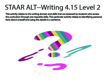 STAAR ALT 4th L2 bundle for RDNG, MATH, & WRITING SUGGESTIONS (24 activities)