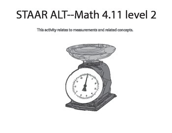 STAAR ALT 4th grade MATH BUNDLE level 2 (suggestions)