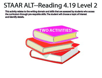 STAAR ALT 4th grade level 2 READING BUNDLE suggestions