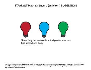 STAAR ALT MATH 3.1 level 2 (activity 1) SUGGESTION