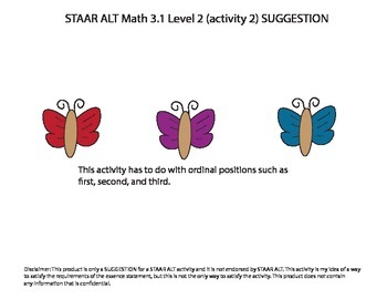 STAAR ALT MATH 3.1 level 2 (activity 2) SUGGESTION