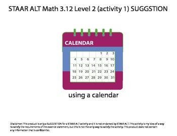 STAAR ALT MATH 3.12 Level 2 (activity 1) SUGGESTION