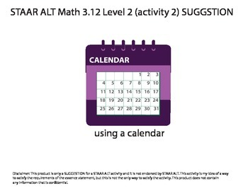 STAAR ALT MATH 3.12 level 2 (activity 2) SUGGESTION