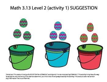 STAAR ALT MATH 3.13 Level 2 (activity 1) SUGGESTION