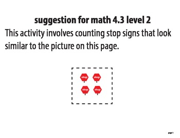 STAAR ALT MATH 4.3 level 2 activity SUGGESTION (activity 1)