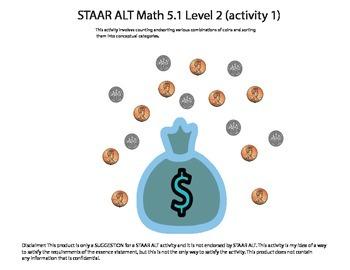 STAAR ALT Math 5.1 Level 2 (activity 1) SUGGESTION