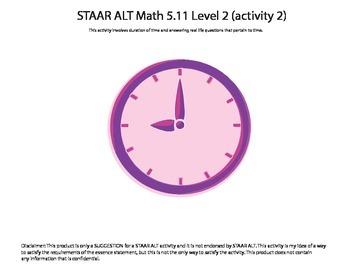 STAAR ALT Math 5.11 Level 2 (activity 2) SUGGESTION