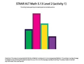 STAAR ALT Math 5.13 Level 2 (activity 1) SUGGESTION