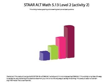 STAAR ALT Math 5.13 Level 2 (activity 2) SUGGESTION