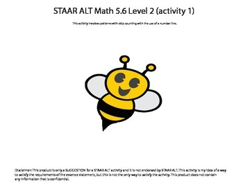 STAAR ALT Math 5.6 Level 2 (activity 1) SUGGESTION