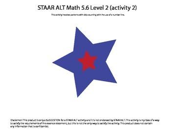 STAAR ALT Math 5.6 Level 2 (activity 2) SUGGESTION