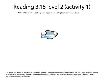 STAAR ALT Reading 3.15 Level 2 (activity 1) SUGGESTION