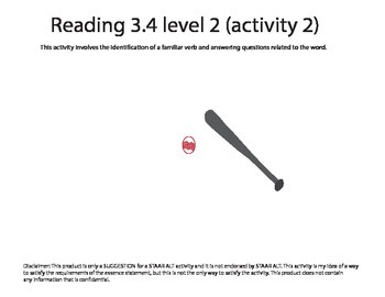 STAAR ALT Reading 3.4 level 2 (activity 2) SUGGESTION