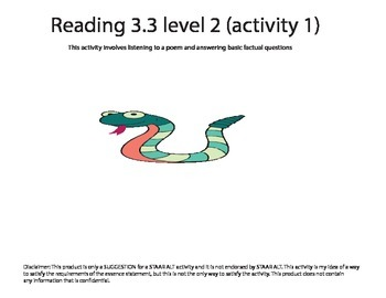 STAAR ALT Reading 3.6 level 2 (activity 1) SUGGESTION