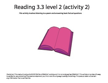 STAAR ALT Reading 3.6 level 2 (activity 2) SUGGESTION