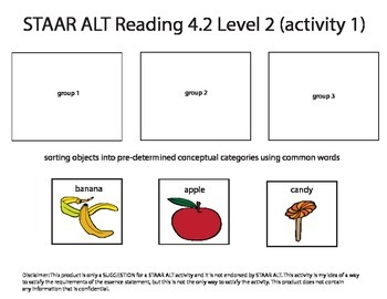 STAAR ALT READING 4.2 Level 2 SUGGESTION (activity 1 re-make)