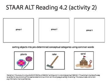 STAAR ALT READING 4.2 Level 2 SUGGESTION (activity 2 re-make)
