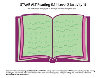 STAAR ALT Reading 5.14 Level 2 (activity 1) SUGGESTION