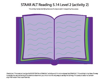 STAAR ALT Reading 5.14 Level 2 (activity 2) SUGGESTION