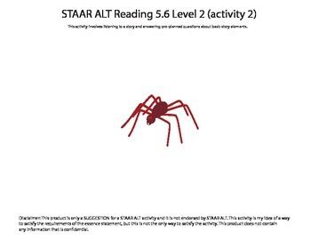 STAAR ALT Reading 5.6 Level 2 (activity 2) SUGGESTION