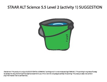 STAAR ALT SCIENCE 5.5 level 2 (activity 1) SUGGESTION