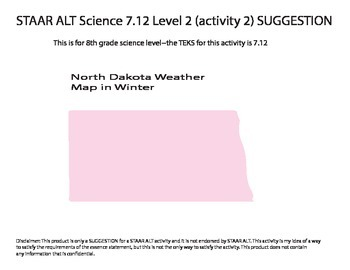 STAAR ALT SCIENCE 8th grade level 2 (activity 2) reporting category 4 SUGGESTION