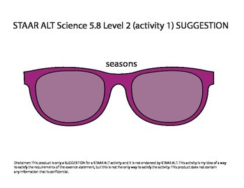 STAAR ALT SCIENCE 5.8 Level 2 (activity 1) SUGGESTION