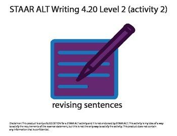STAAR ALT WRITING 4.20 Level 2 (activity 2) re-make