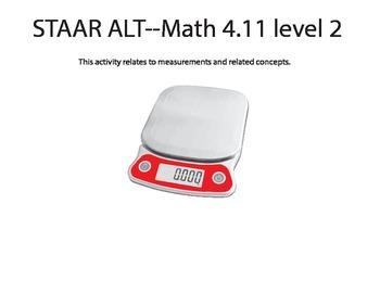 STAAR ALT MATH 4.11 Level 2 (activity 1) SUGGESTION