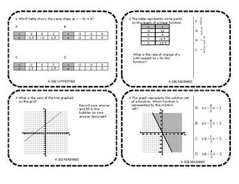 Algebra 1 EOC Category 2 Task Cards