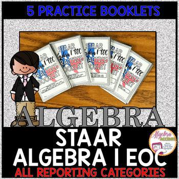 STAAR Algebra 1 EOC Practice Booklet BUNDLE