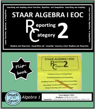 STAAR Algebra 1 EOC Reporting Category #2 Flip Book