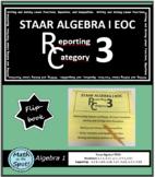 STAAR Algebra 1 EOC Reporting Category #3 Flip Book