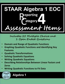 STAAR Algebra 1 EOC Reporting Category #4 Assessment Items