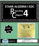 STAAR Algebra 1 EOC Reporting Category #4 Flip Book