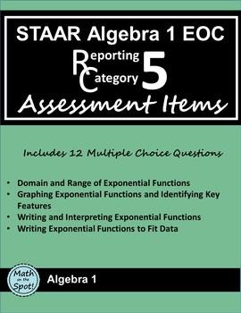 STAAR Algebra 1 EOC Reporting Category #5 Assessment Items