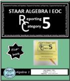 STAAR Algebra 1 EOC Reporting Category #5 Flip Book