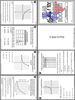 STAAR Algebra 1 EOC Reporting Category 5 Practice Booklet
