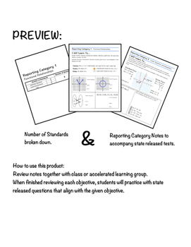 STAAR Algebra 1 Guided Notes- Reporting Category 1