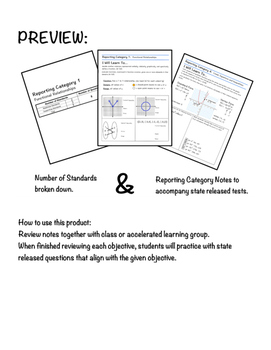 STAAR Algebra 1 Guided Notes- Reporting Category 3