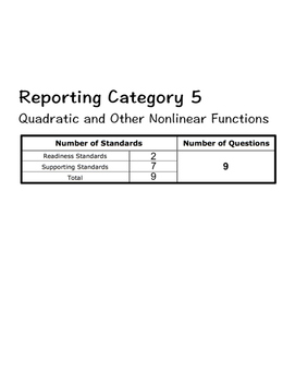 STAAR Algebra 1 Guided Notes- Reporting Category 5