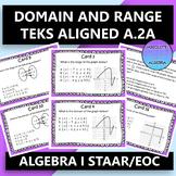 STAAR EOC Algebra 1 Task Cards A.2A Domain and Range