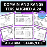 STAAR EOC Algebra 1 Task Cards A.2A Domain and Range