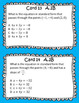 STAAR/EOC Algebra I Task Cards A.2B and A.2C Writing Linear Equations