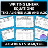STAAR EOC Algebra 1 Task Cards A.2B and A.2C Writing Linea