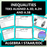 STAAR/EOC Algebra I Task Cards A.3D, A.2H, and A.5B Inequalities